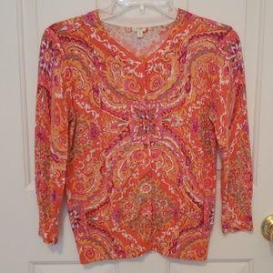 J. Crew Paisley Cardigan Sweater